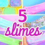 DIY 5 recetas fáciles para hacer SLIME casero