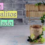 DIY Pozo con palitos de helado