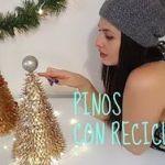 Arbolitos de navidad reciclando