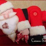 Papá Noel dormilón en fieltro con patrón