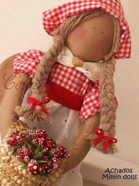 Moldes muñeca country de tela