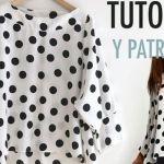 DIY+patrones para hacer una blusa de lunares