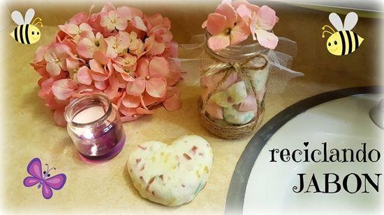 DIY Como hacer frascos decorativos reciclando jabón