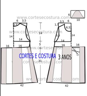 Patrones para vestido de niña talla 3 años 3