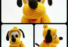 Pratrones para hacer perro Pluto en amigurimi