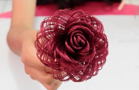 Diy para hacer una rosa de tela
