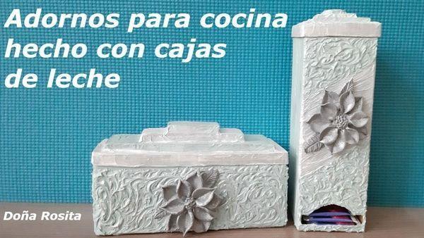 DIY para hacer adornos reciclando cartones de leche