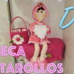 DIY+patrones muñeca portarollos de papel