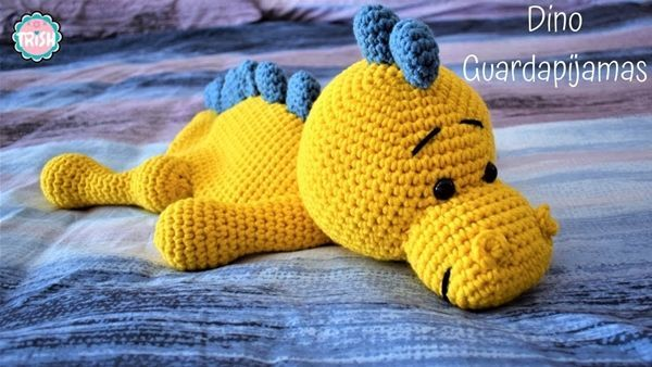 DIY dinosaurio guardapijamas a crochet