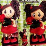 Tutorial y molde para hacer una muñeca fofucha Eva 3D