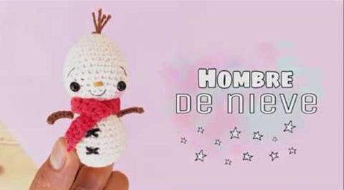 DIY muñeco de nieve en amigurimi