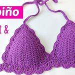 DIY top bikini tejido a crochet