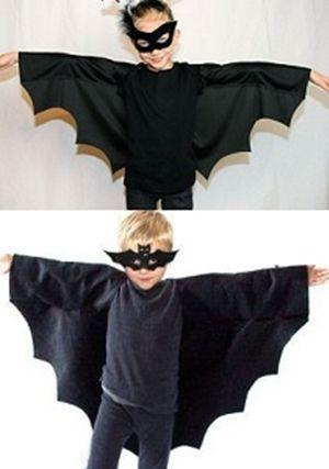 Patrón capa y mascara de murcielago para niño