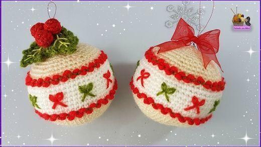 adornos de navidad de ganchillo DIY Cmo Hacer Diferentes Bolas De Navidad A Crochet