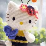 Patrón hello Kitty abeja amigurimi