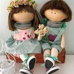 Molde y tutorial para hacer una muñeca y muñeco rusos de tela