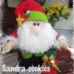 Papá Noel con regalos muñeco de tela con moldes