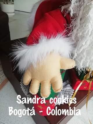 Papá Noel con regalos muñeco de tela con moldes (4)