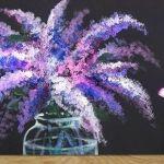 DIY para pintar una flor lila con pintura acrílica