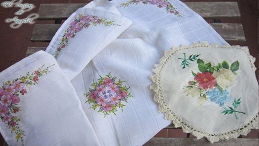 DIY decoupage en manteles y tapetes
