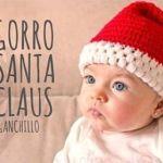 DIY gorro Papá Noel en ganchillo para bebé