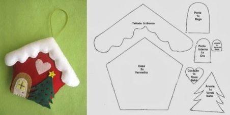 Moldes para hacer adornos navideños de fieltro (1)