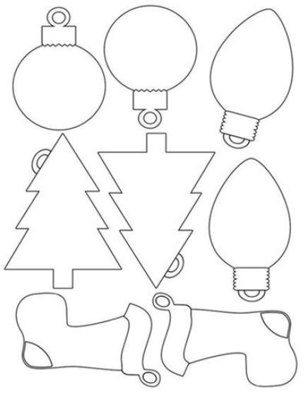 Moldes para hacer adornos navideños de fieltro (7)