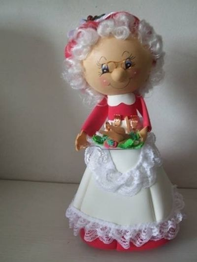 Mamá Noel fofucha con moldes