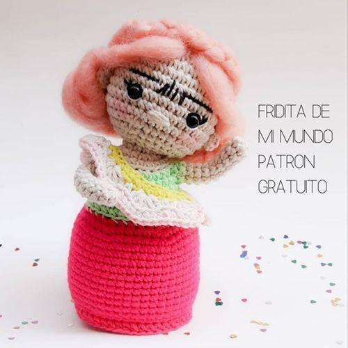 Frida amigurimi con patrón