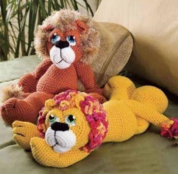 León amigurimi con patrón