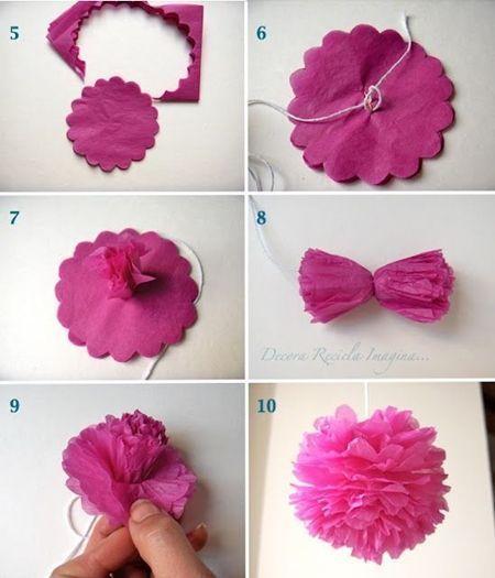 Flores de papel seda (3)