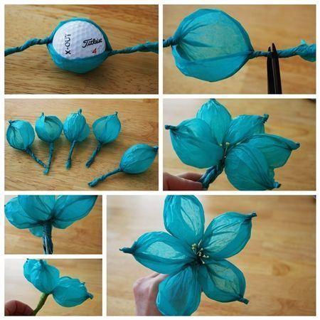 Flores de papel seda (6)