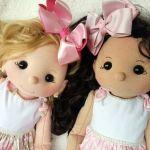 Esperanza muñeca de fieltro con moldes