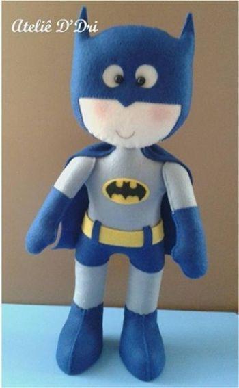 Batman de fieltro con moldes gratis