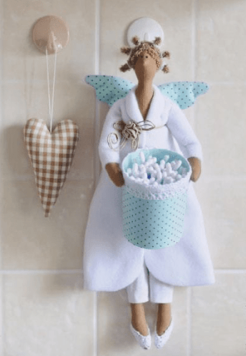 Tilda muñeca de tela en pijama (3)