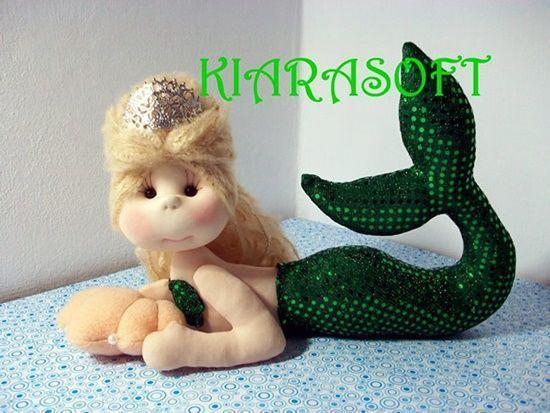 Muñeca sirena soft con moldes