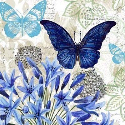8 Láminas de mariposas para decoupage (7)