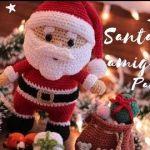 DIY Papá Noel con regalos en amigurimi