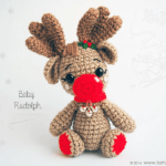 Patrón reno bebé Rudolph amigurimi