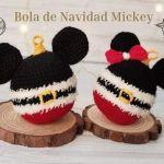 Patrón esfera de navidad Mickey a crochet