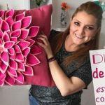 Cómo hacer cojines de flores con fieltro