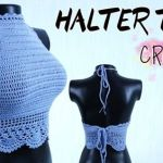 DIY halter top a crochet