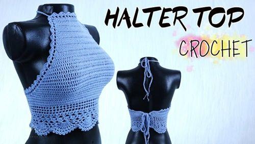 DIY halter top a crochet
