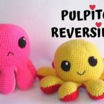 DIY pulpo reversible en amigurimi