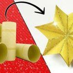 Cómo hacer adornos de navidad reciclando tubos de cartón