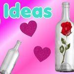 Ideas de regalos para San Valentín reciclando botellas de vino