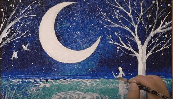 DIY pinta un paisaje con una pinza de cabello