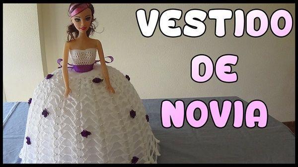DIY Vestido de novia a crochet para muñeca