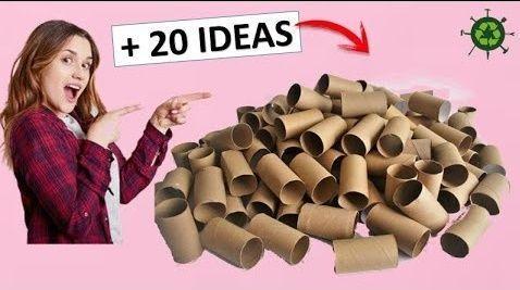 Fantásticas manualidades para reciclar rollos de papel higiénico