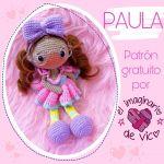 Muñeca Paula amigurumi con patrón gratis